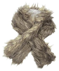 100% Polyester/long Shaggy Faux Fur Pull-thru Muffler