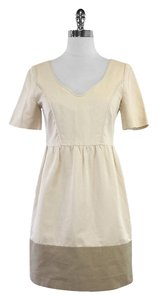 Hanii Y short dress Tan Taupe Cotton Short Sleeve on Tradesy