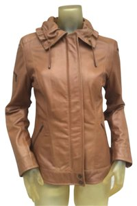 Cole Haan Tan Leather Jacket