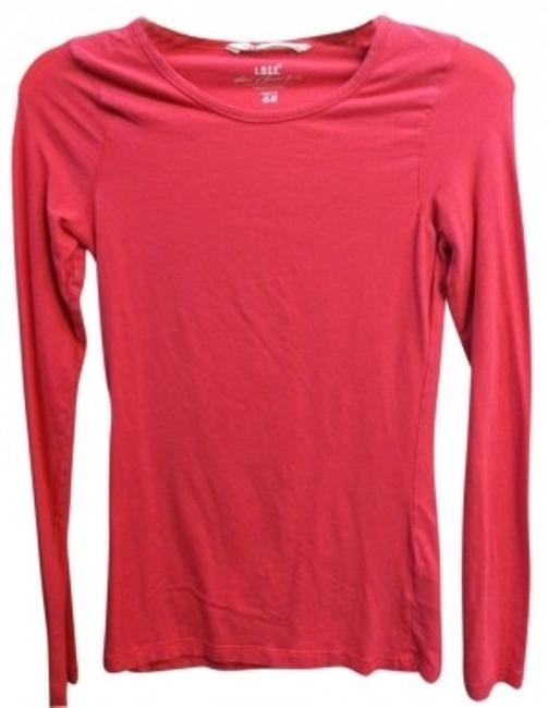 Preload https://item3.tradesy.com/images/h-and-m-bright-pink-long-sleeved-basic-tee-shirt-size-4-s-6327-0-0.jpg?width=400&height=650