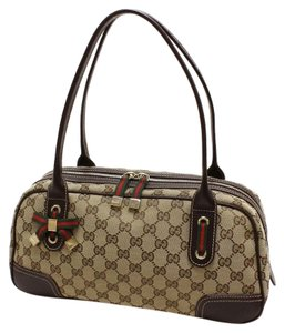 Gucci Gg Canvas Mini Boston Shoulder Bag