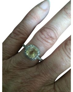 Halo Citrine ring