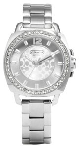Coach Coach Boyfriend 14501699 Silver Stainless Signature Crystal Glitz Womens Watch