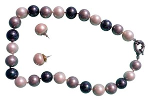 Other Multi-Coloured Shell Pearl Necklace with matching earrings.