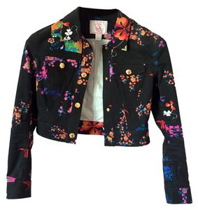 Versace for H&M Black (Floral) Womens Jean Jacket
