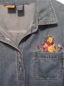 pooh women Top blue denim
