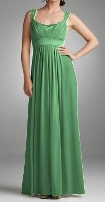 Item - Green Other Long Capped Sleveve Gown Style 84036 Feminine Bridesmaid/Mob Dress Size 8 (M)