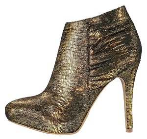 Victoria's Secret Ankle Metallic Gold Boots