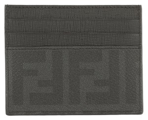 Fendi Fendi Black Leather Zucca Card Case (New with Tags)