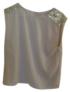 Alice + Olivia Sequin Pink Going Out Girls Night Out Top blush