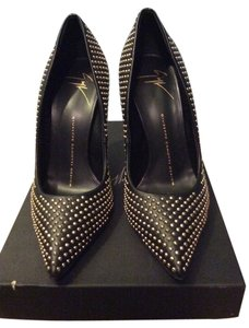 Giuseppe Zanotti Black with Gold Stud Pumps