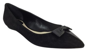 Dior Ballet Size 5.5 Size 35.5 Bow Black Flats