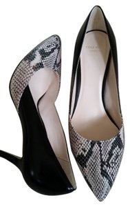 Cole Haan Black and Ivory Pumps