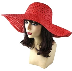 Other FASHIONISTA Red Beach Sun Cruise Summer Large Floppy Dressy Hat Cap