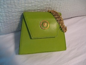 Versace Vintage Gianni LIGHT GREEN Clutch