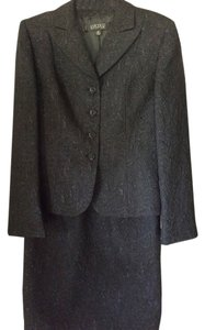 Kasper Kasper Cocktail/Dressy Black Damask 2Piece Suit
