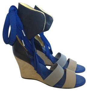 adidas Athletic Blue/Black/Neutrals Wedges