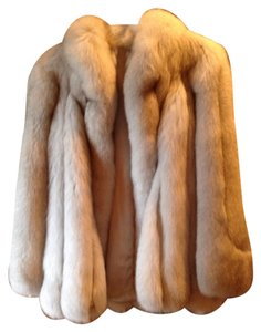 Natural blue fox!!!saga fox Fur Coat