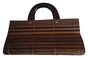 Wood Purse Brown Clutch