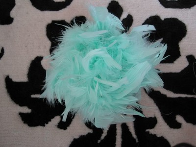 Aqua/tiffany Blue Feather Pomanders