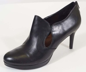 Nine West Adderley Womens Leather Heels Black Boots