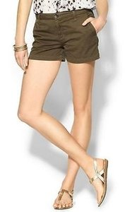 Joie Traveller Bermuda Womens Fatigue Flat Front Shorts Green