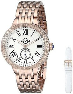 Other Gv2 By Gevril Astor 9102 Women Rose Gold-tone Diamond Bezel Quartz Ladies Watch