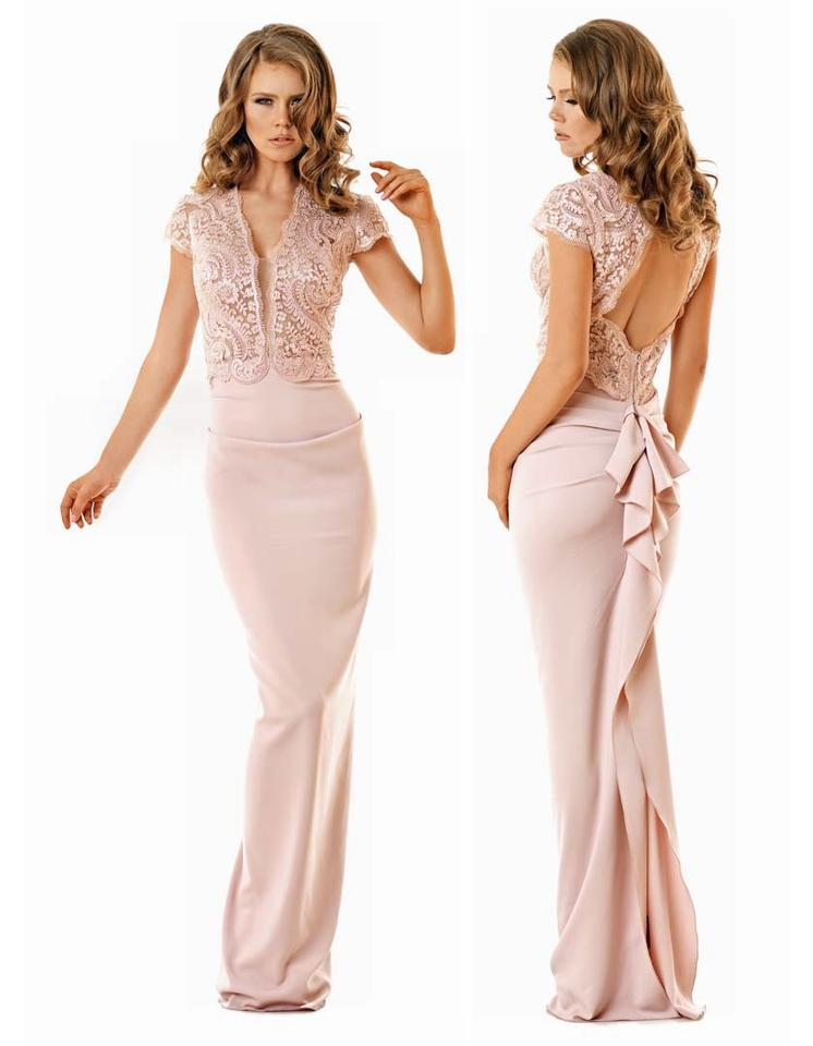 e7484d0a1c4c2 Nicole Bakti Dusty Rose Polyester Nylon  Poly Lining 432 Formal  Bridesmaid Mob Dress