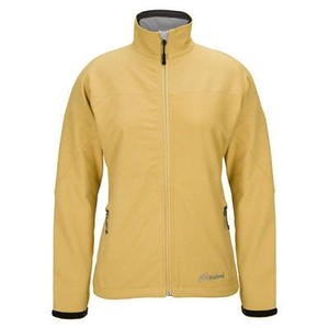 Cloudveil Womens Butterscotch Cyclone Soft Shell Plus Serendipity Coat Yellow Jacket
