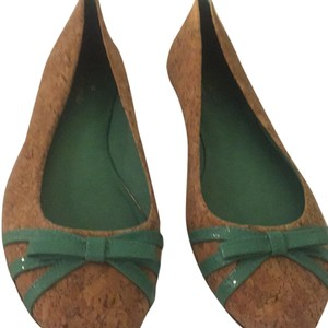 Kate Spade Cork and light green patent leather Flats
