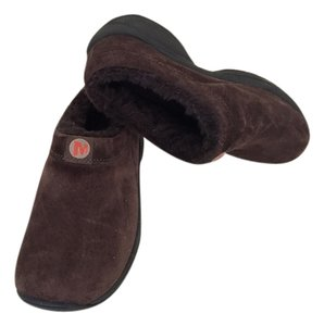 Merrell Suede Chocoloate Brown Mules