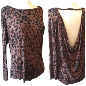 Veronica M Wispy Airy Top Leopard
