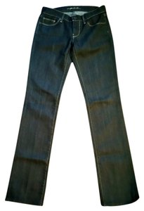 7 For All Mankind Denim Wash Straight Leg Jeans-Dark Rinse