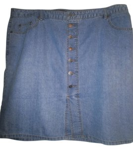 Venezia by Lane Bryant Denim Plus-size Mini Skirt blue