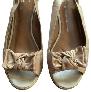 Franco Sarto Cement Beige Tan Wedges
