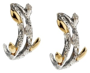 Stephen Dweck Dweck Diamonds Sterling Fortuna Double Hoop Earrings