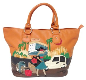 Nicole Lee Large Shopping Tote in orange