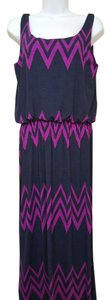 Purple /Navy Maxi Dress by Pixley