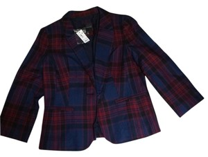 The Limited Plaid Multi 8 6 Size Navy multi Blazer