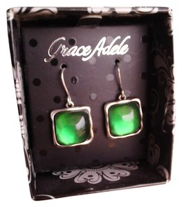 Grace Adele NWT Emerald Cocktail Earrings