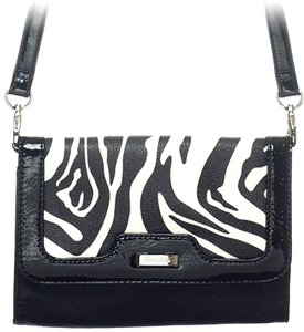 Grace Adele Patent Faux Patent Zebra Cross Body Bag