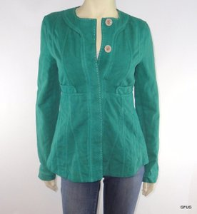 Paper Denim & Cloth Linen Green Jacket
