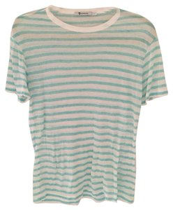 T by Alexander Wang T Shirt Turquoise/white