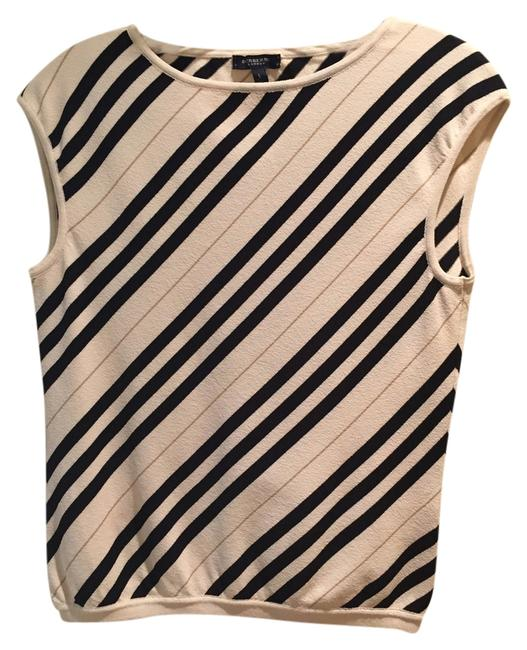 Item - Ivory with Black and Gold Diagonal Stripes Sweater