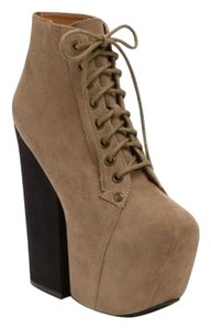 Jeffrey Campbell Taupe / Black Boots