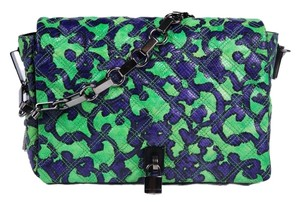 Marc Jacobs Print Green Quilted Shoulder Bag
