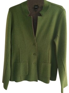 Eileen Fisher Wool Merino Green Blazer