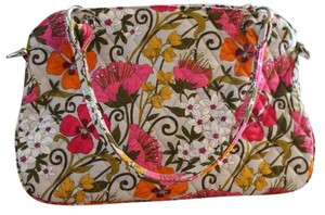 Vera Bradley Cotton Satchel in Multi Colored, Floral