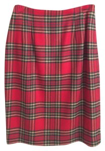 Ellen Tracy Skirt Red plaid