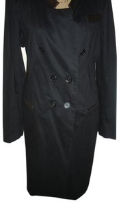 ADAM Leather Stretchy Comfortable Vented Trench Coat